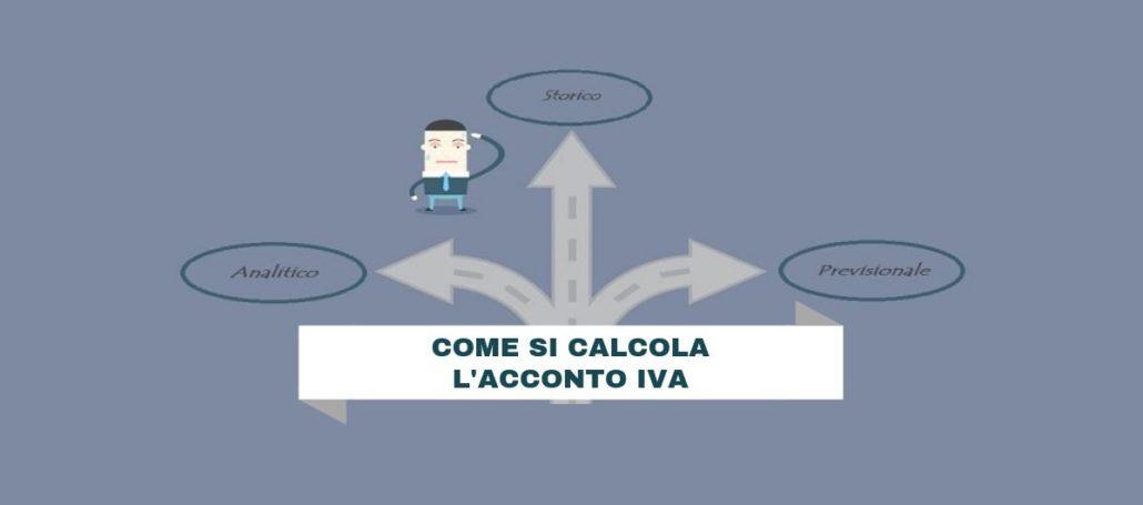 Acconto IVA: come si calcola