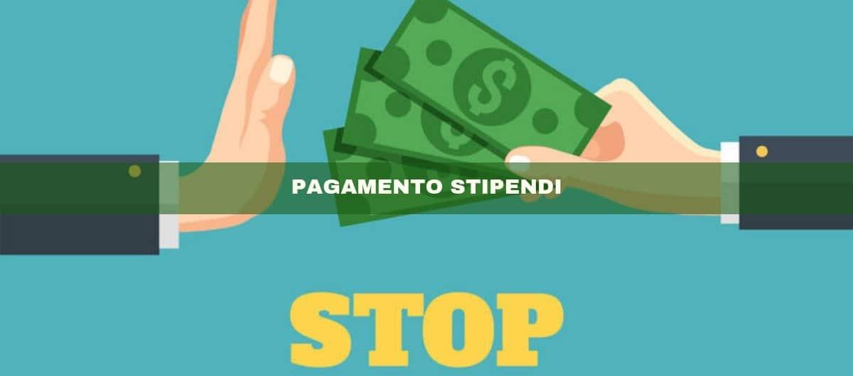 PAGAMENTO STIPENDI: Stop ai contanti da Luglio