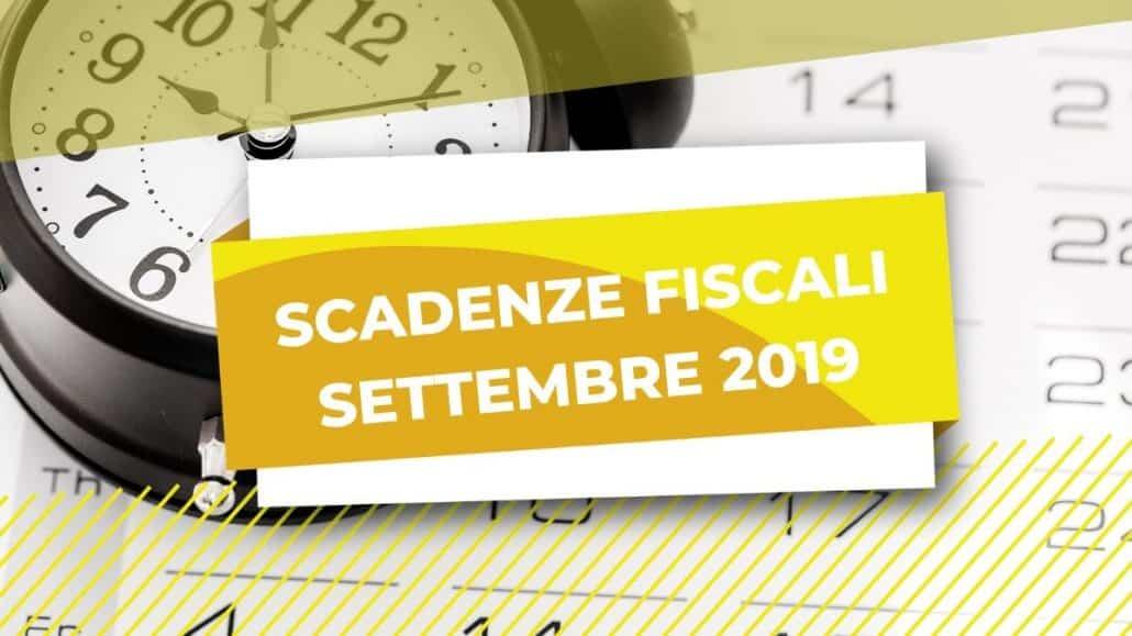 scadenze tasse settembre 2019