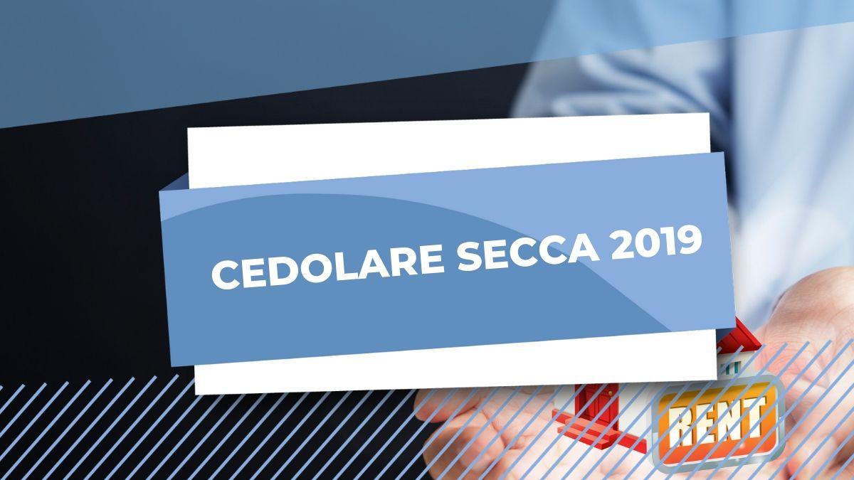 CONTRATTO CEDOLARE SECCA 2019