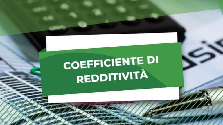 coefficiente redditività regime forfettario