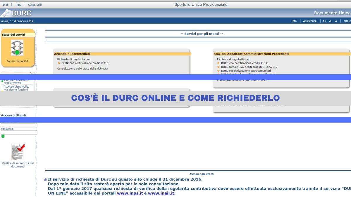 Cos'è il DURC e come richiederlo online