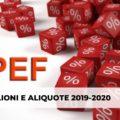scaglioni irpef 2019 2020