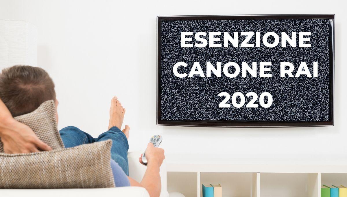 esenzione canone rai 2020