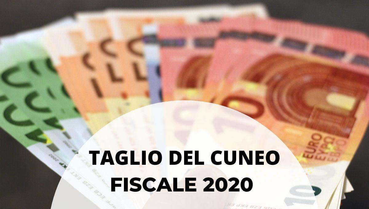 taglio del cuneo fiscale 2020