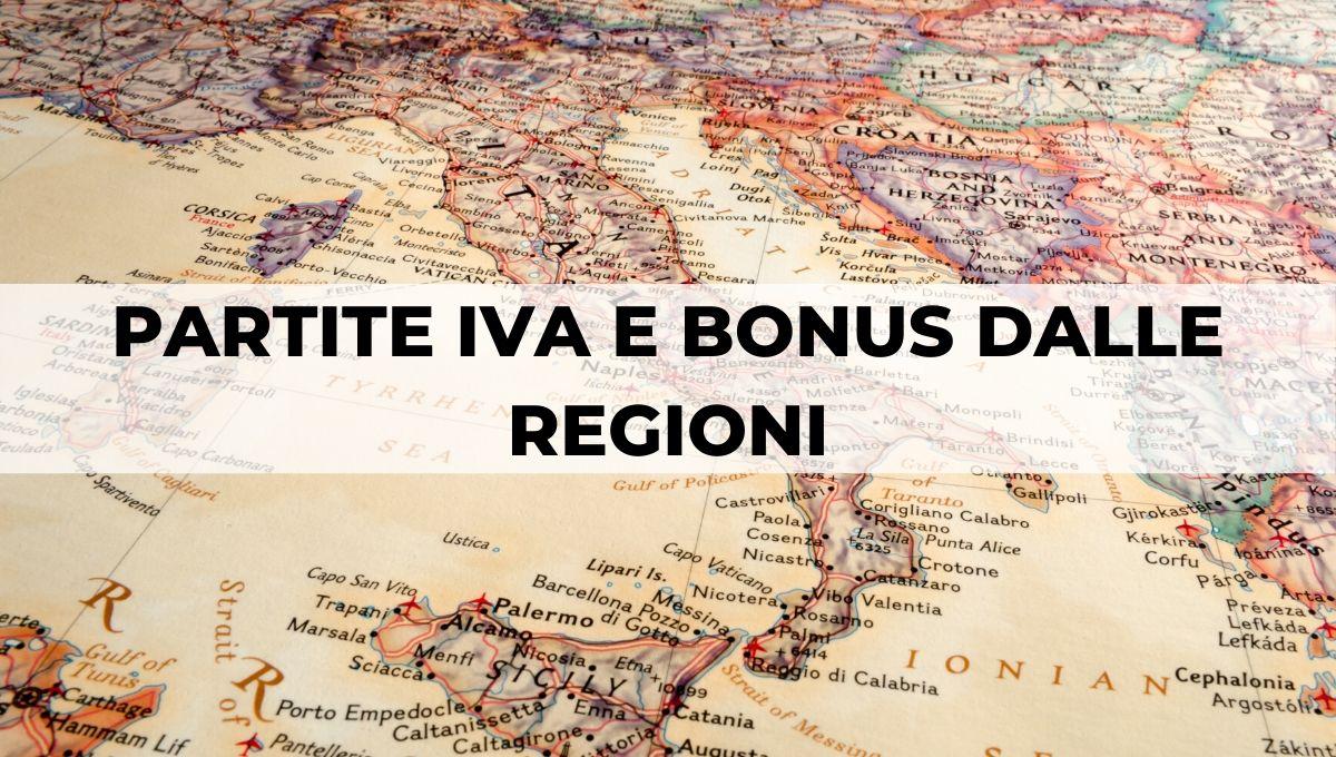 BONUS PARTITE IVA REGIONI