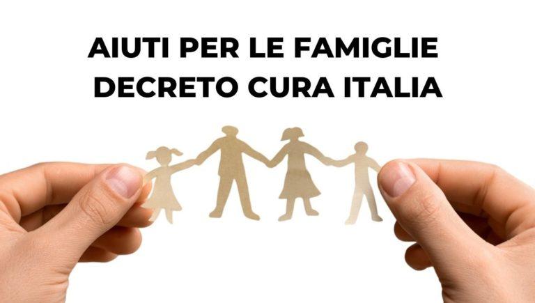 aiuti per le famiglie decreto cura italia