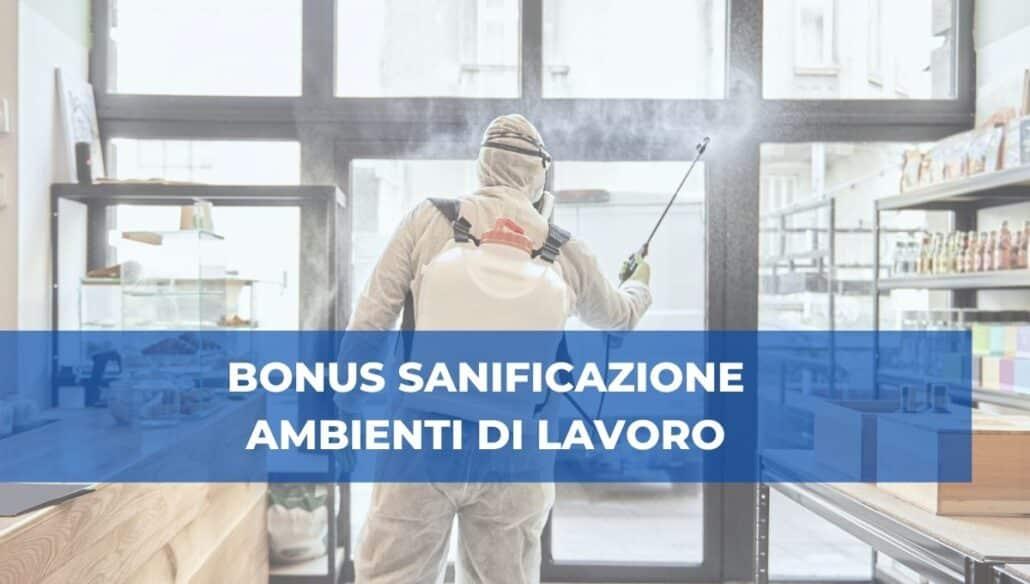 bonus sanificazione