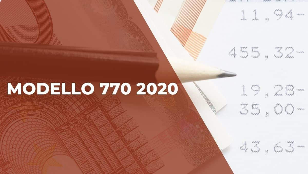 modello 770 2020