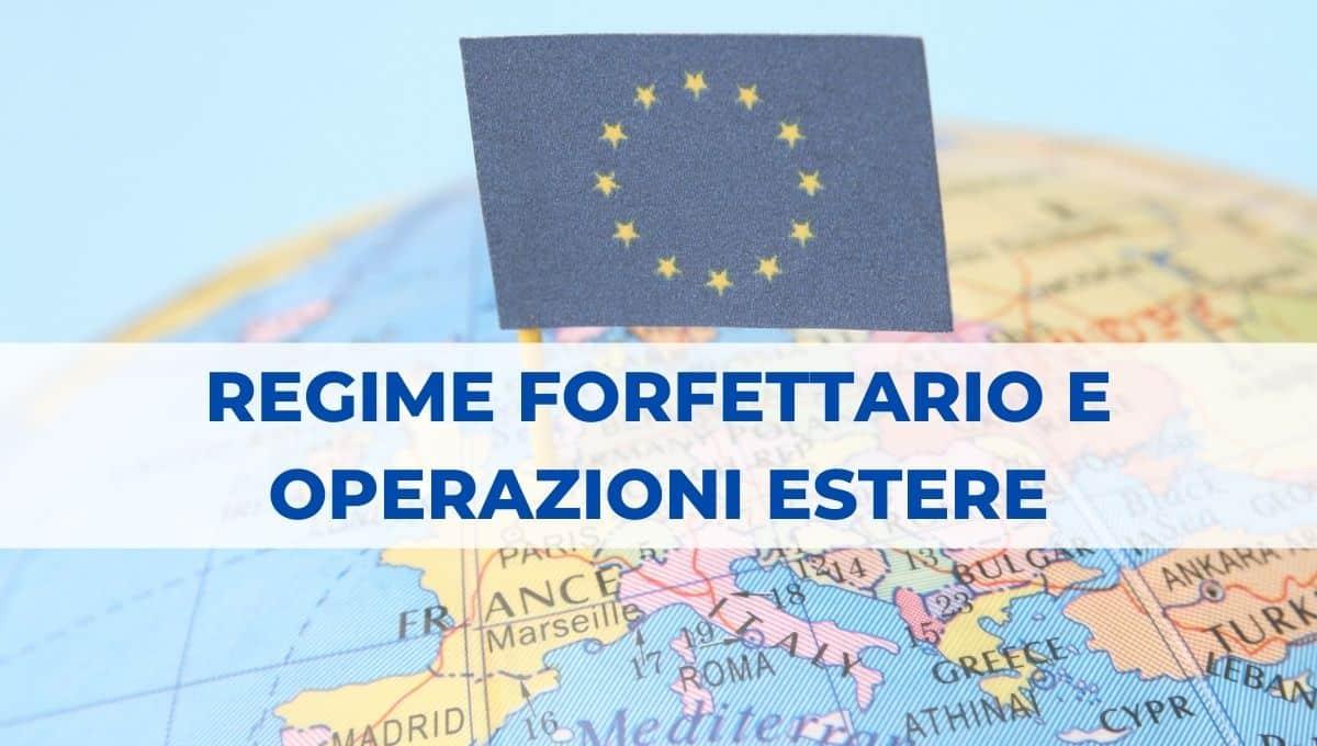 regime forfettario e operazioni estere