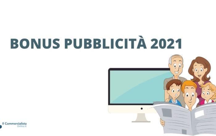 bonus pubblicità 2021