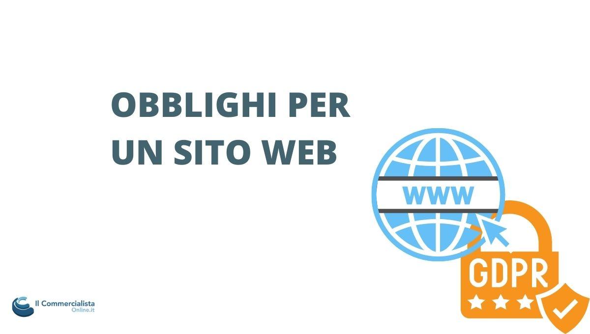obblighi sito internet